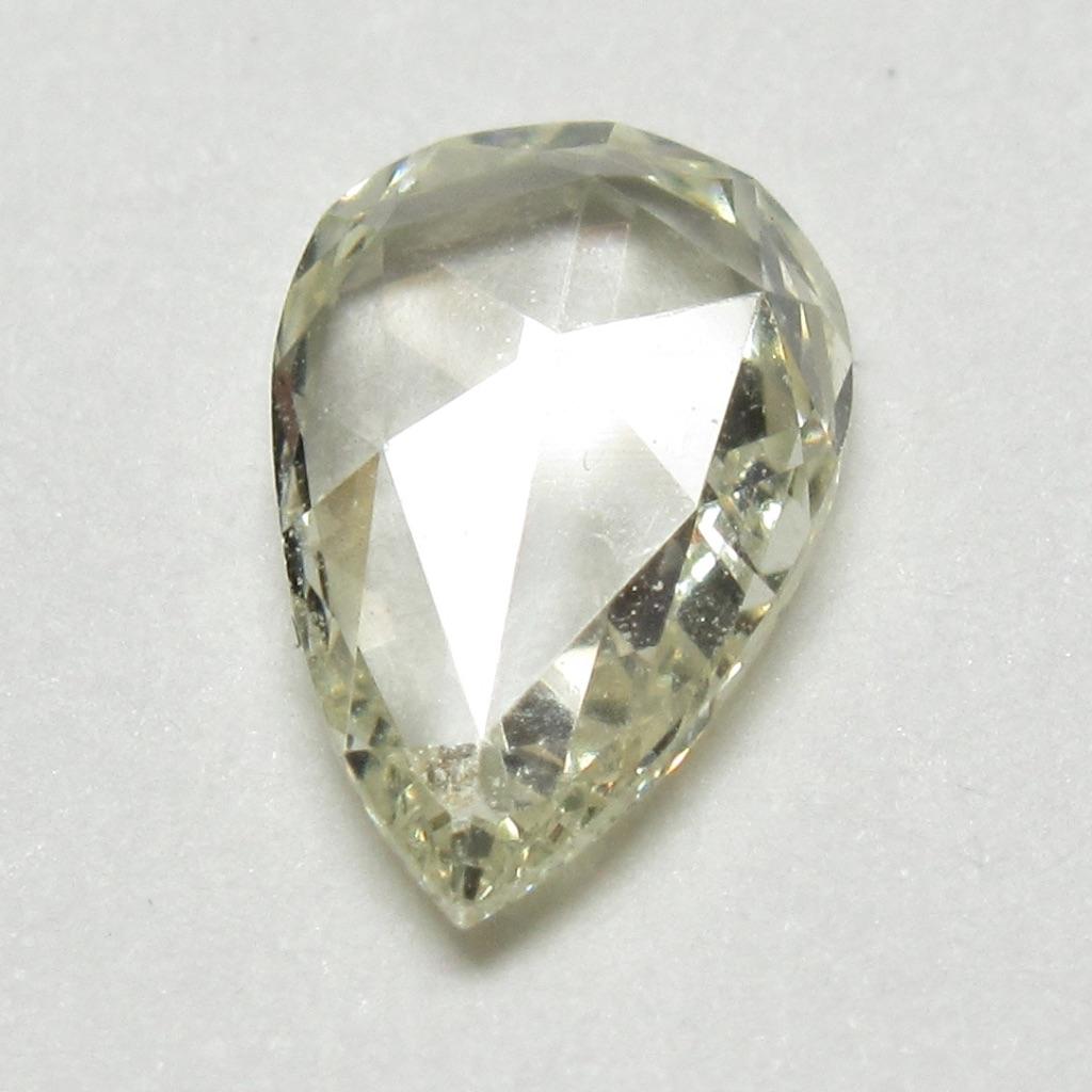 ペアシェイプローズカットダイヤモンド・アンティークローズカットダイヤモンド・イエローダイヤモンド(ファンシーカットダイヤモンド・一点物ダイヤモンド)【一点物シェイプ】