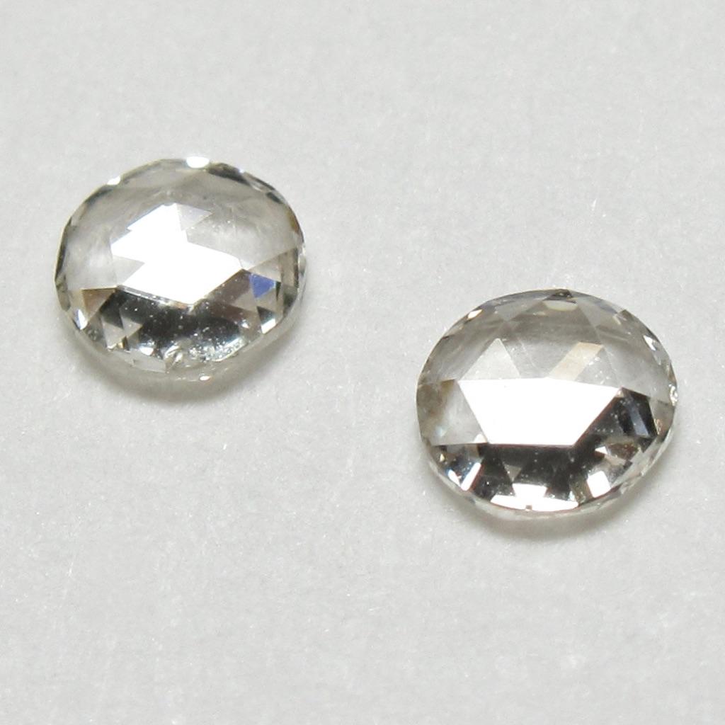 ラウンドローズカットダイヤモンド(ファンシーカットダイヤモンド・一点物ダイヤモンド)【一点物シェイプ】